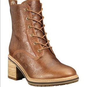 NEW TIMBERLAND Sienna High Rust Embossed Boot sz 8